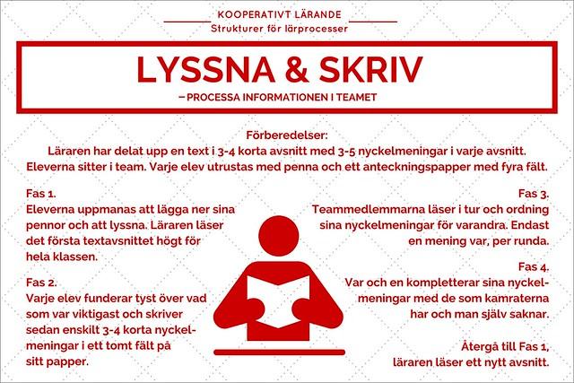 Kooperativt Lärande - Lyssna & skriv