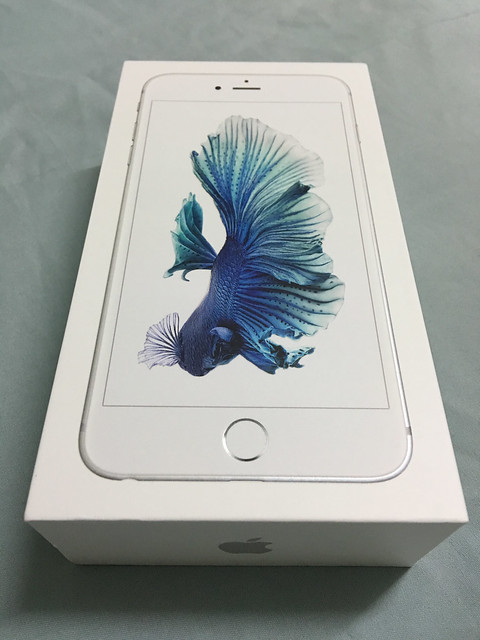 iPhone 6S plus silver package box
