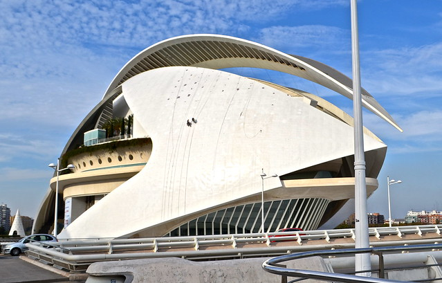 opera house - City of Arts and Sciences, Valencia Spain