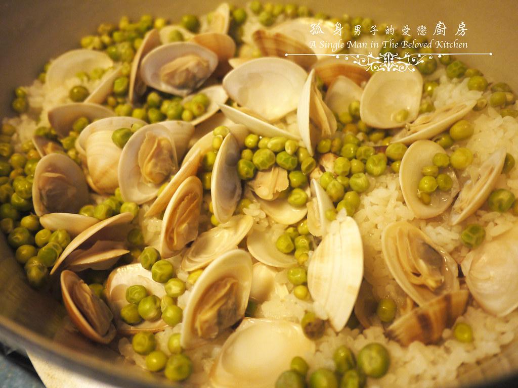 孤身廚房-海瓜子豌豆炊飯。《LE CREUSET鑄鐵鍋飯料理》試做18