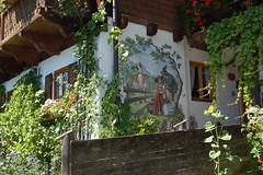 Wallgau - Ortsmitte (16) - Wandmalerei