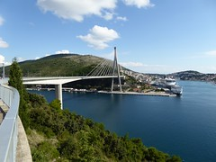 Gruz harbour and Franjo Tudman bridge