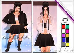 ~ϻ:RiNKA Hoodie and Skirt Boots 10 Color