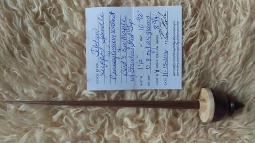 Silly Salmon Designs Tibetan Support Spindle in Pennsylvania Walnut & Birdseye Maple