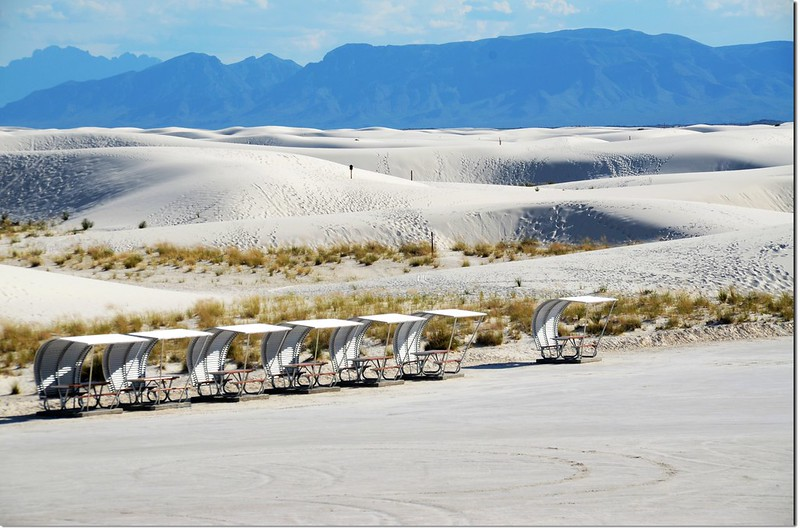 Covered Picnic Tables at White Sands National Monument