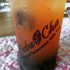 li hing jasmine boba...that blob top left is a li hing mui♡ #lihing #bobacha #pearlridge #hawaii #tea #boba #jasmine