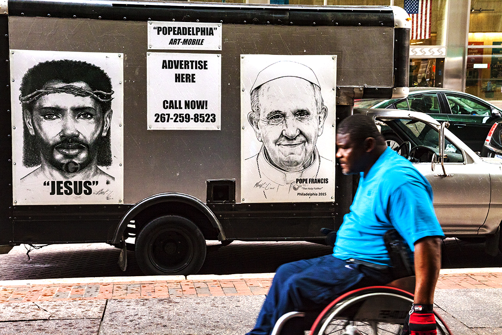 POPEADELPHIA ART MOBILE--Center City