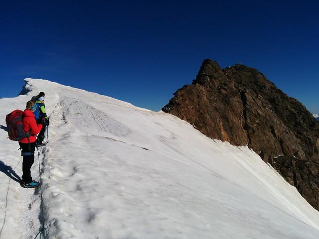 Blick auf den Gipfel der Weißkugel