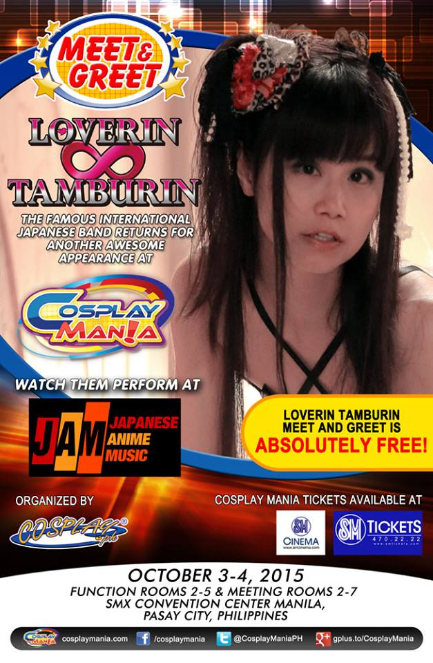 Cosplay Mania Special Guest Meet and Greets Announced! Loverin Tamburin
