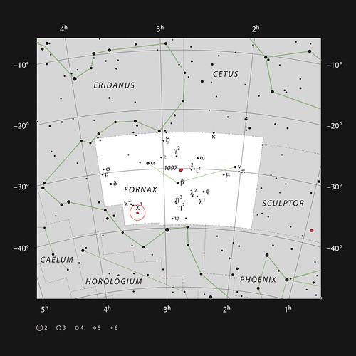 VCSE - Mai kép - NGC 1316 keresőtérkép
