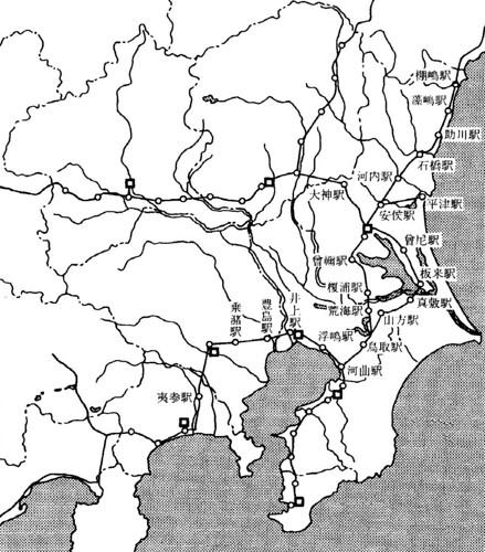 宝亀2年当時の東国の駅路網