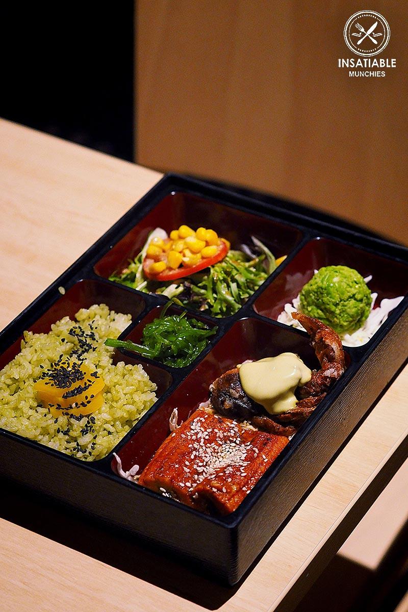 Sydney Food Blog Review of One Tea Lounge, Sydney CBD: Black Pepper Unagi Matcha Bento, $20.80