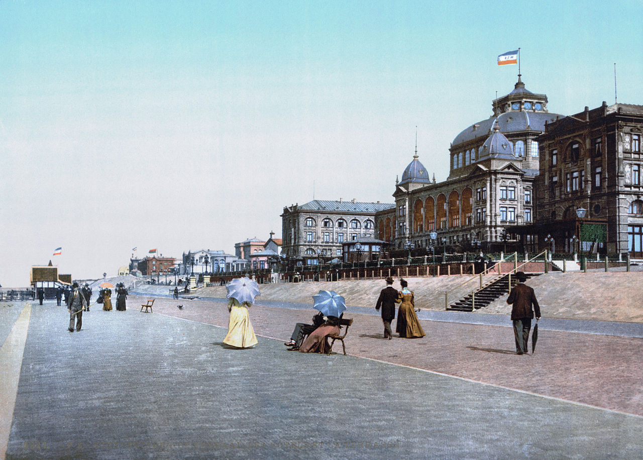 The Kurhaus, a famous beach resort in the Netherlands