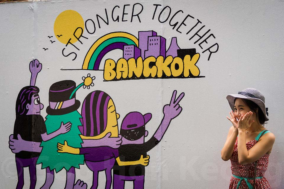 Stronger Together with Street Art @ Bangkok, Thailand