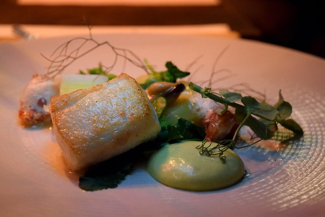 Fish Course at Timberyard, Edinburgh