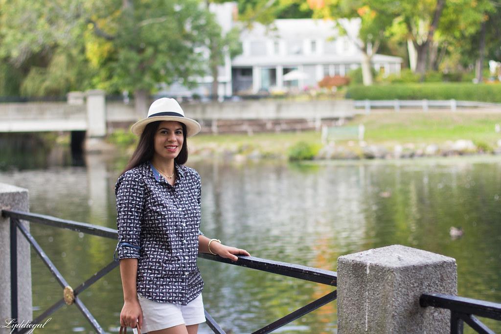 swan print shirt, white shorts, panama hat, converse-3.jpg