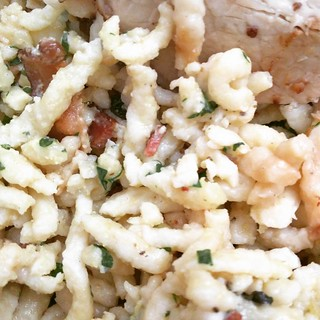 S is for Spaetzle #jwab #alphabetsoup  www.justwroteablog.com