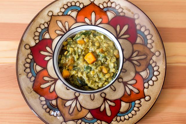 Curry de lentejas acelgas y boniato veganizando for Cocinar lentejas de bote