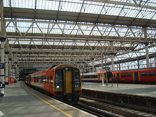 South west trains services in London Waterloo station
