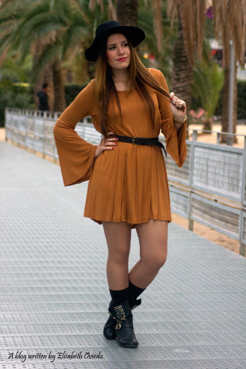 Vestido mostaza PULL AND BEAR INDITEX OTOÑO 2015 HEELSANDROSES (8)