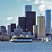 Toronto Skyline and Ferry - 1976 by Woody Woodsman