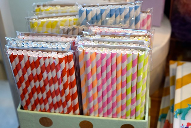 Paper Straws at Urbanic Paper Boutique, Los Angeles | www.rachelphipps.com @rachelphipps