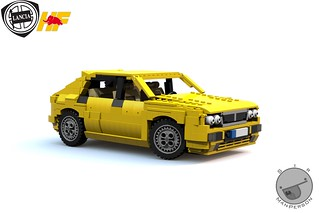 Lancia Delta HF Intergrale fornt angle - 14-wide - Lego
