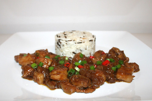 33 - Asian onion pork belly - Side view / Asiatischer Zwiebel-Schweinebauch - Seitenansicht