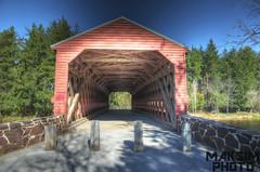 A Colorful Covered Bridge