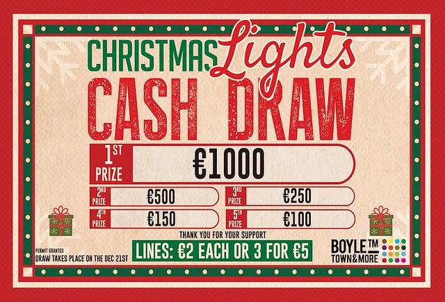 xmas lights draw poster