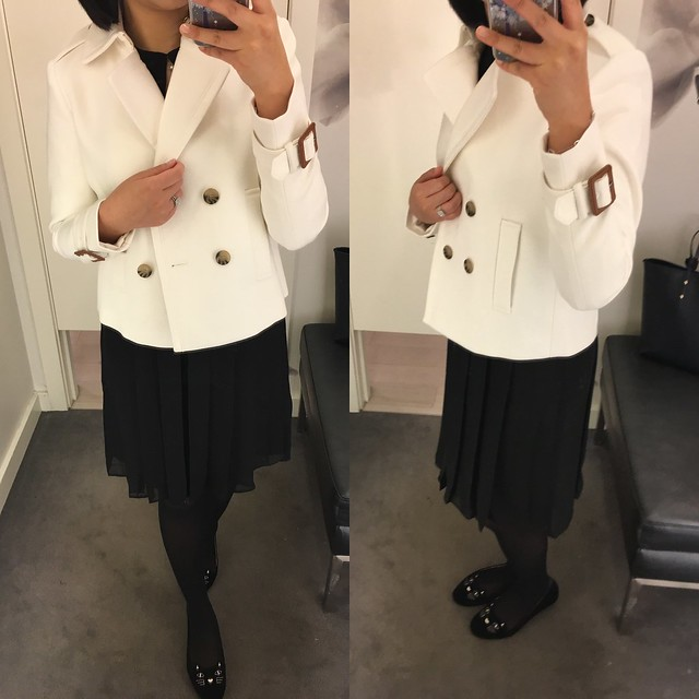 Ann Taylor Double Breasted Trench Jacket, size 0P