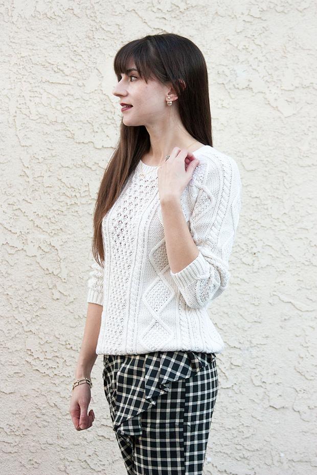 Ruffle Plaid Skirt, Greylin, Gap Sweater