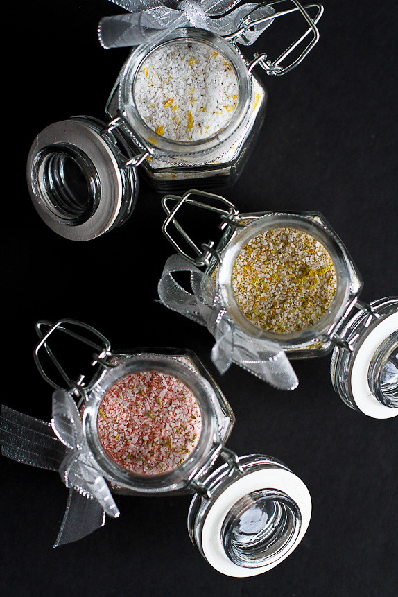 How to Make Flavored Salts...Great for homemade holiday gifts! | cookincanuck.com