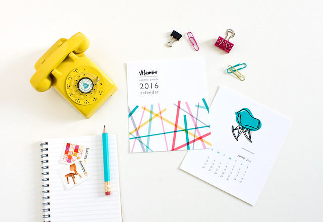 2016 Desk Calendars by Vitamini