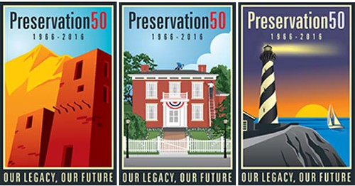 Posters, 50th anniversary of the National Historic Preservation Act