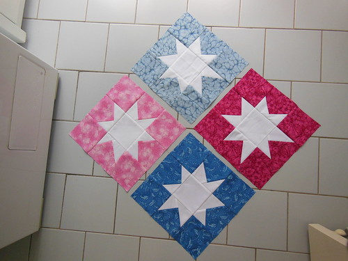 Wonky white stars