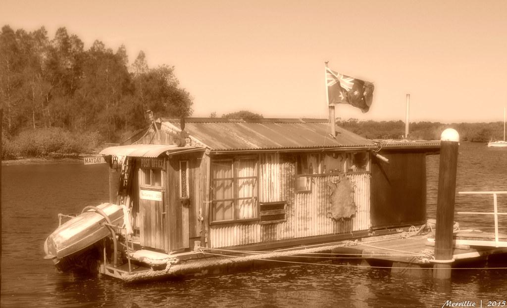 Unique Boathouse Downunder in Sepia