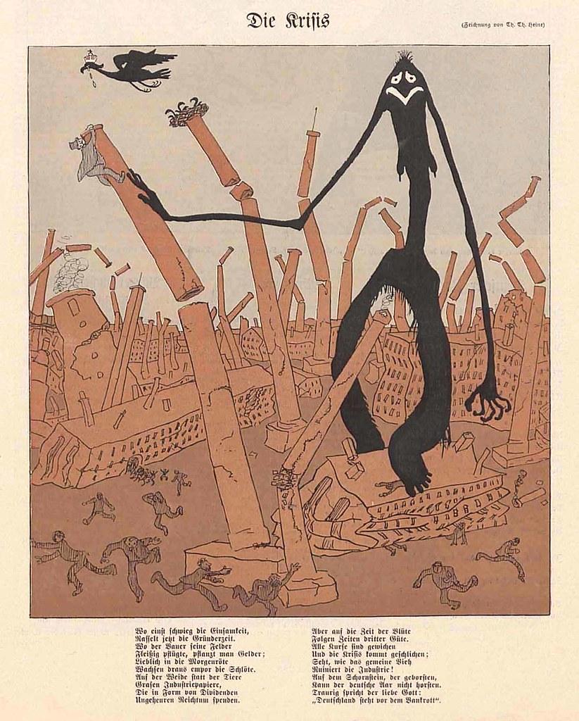 Thomas Theodor Heine - The Crisis, 1901