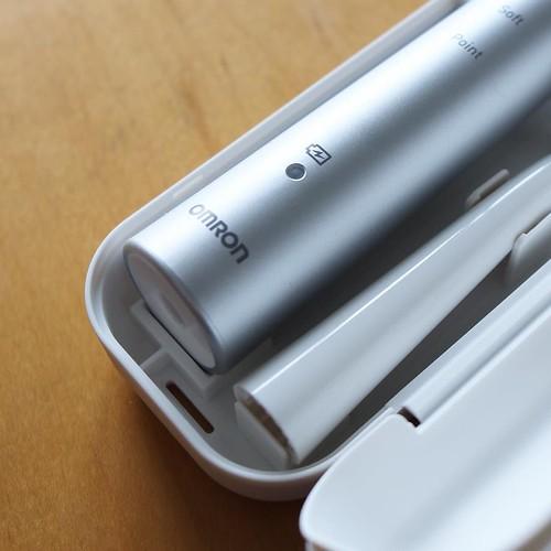 オムロン社製の電動歯ブラシ。 #オムロンヘルスケアオフィシャルレポーター