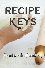 Recipe Keys for All Kinds of Cooking