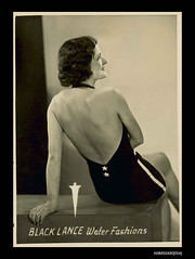 Woman modelling Peter O'Sullivan designed swimwear