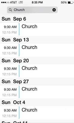 Is church on your calendar