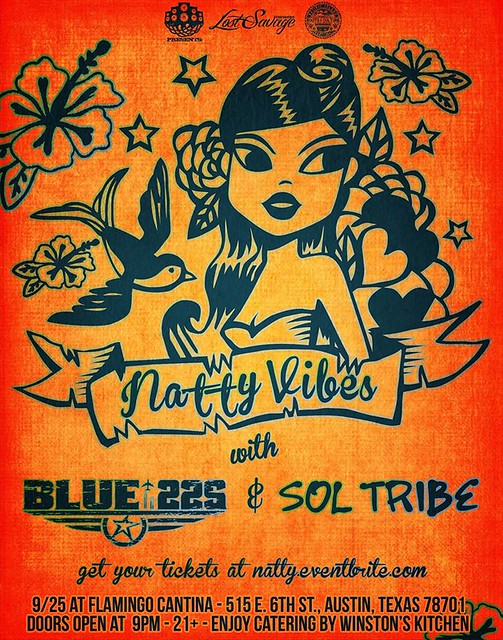 Natty Vibes | Blue22s | Sol Tribe at Flamingo Cantina in Austin (9/25)