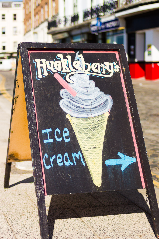huckleberry' ice cream sign margate