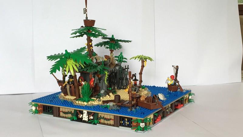 Afficher le sujet moc bp challenge l 39 le au tr sor - Ile pirate lego ...