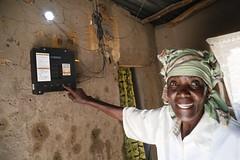Elizabeth Mukwimba, an M-Power solar customer in Tanzania