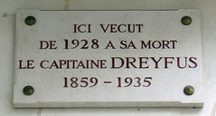 Photo of Alfred Dreyfus marble plaque