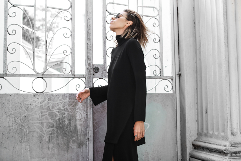 Ellery high neck top, all black street style, modern legacy, fashion blog, editorial (1 of 1)