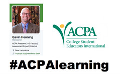#ACPALearning Chat with @ACPAprez @GavinHenning