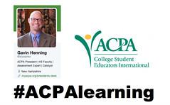 #ACPALearning Chat with @ACPAprez @GavinHenning